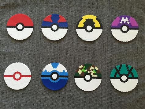 pokeball perler bead pattern pok 233 mon pok 233 drink coaster perler bead pattern 3 for 10