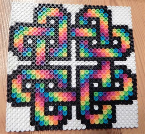 perler bead designer rainbow coaster perler by mydaydreameddesigns