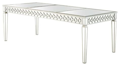 Houzz Home Design Kitchen sophie silver mirrored dining room table contemporary