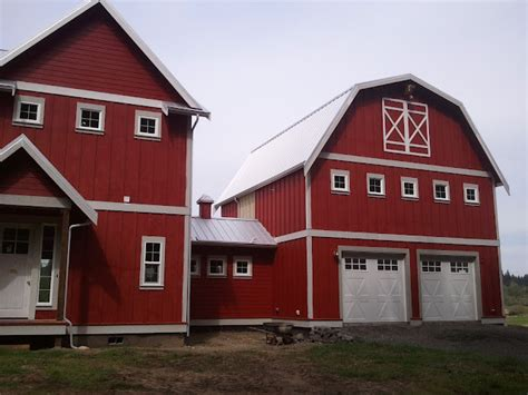 Gambrel Roof Homes red barn farm house eclectic exterior seattle