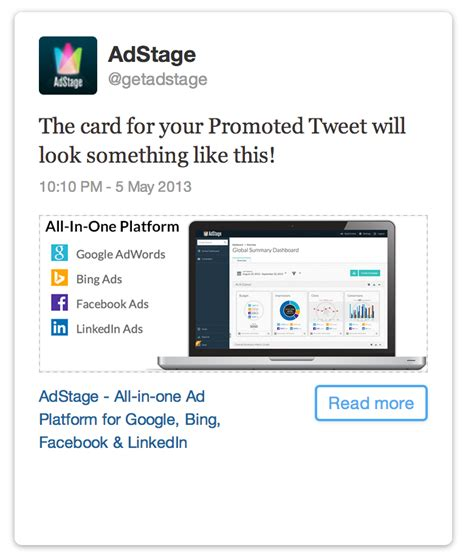 card site the adstage how to create website cards for