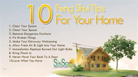 design tips for your home 10 feng shui tips for your home sun signs