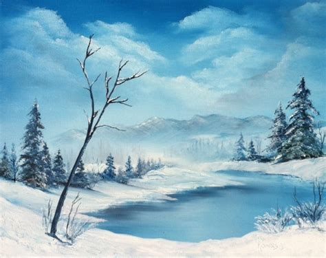 bob ross paintings winter 1000 images about painting on acrylics