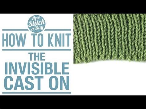 how to undo a row of knitting how to knit the invisible cast on