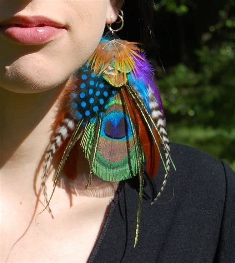 how to make feather jewelry image picture feather earrings
