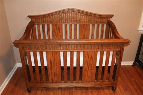 oak baby crib oak baby crib by randy sharp lumberjocks