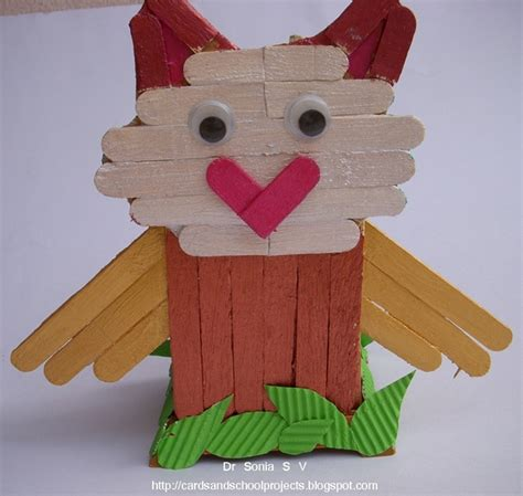 craft stick projects for cards crafts projects popsicle stick craft