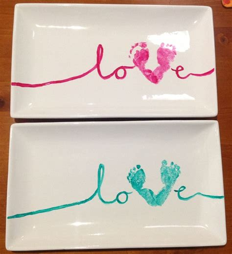 baby craft projects baby footprint craft idea gift for buy platter