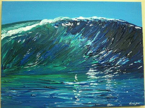 acrylic painting waves timothy sword artwork wave original painting acrylic