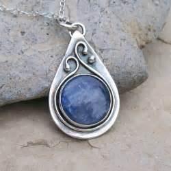 silver pendants for jewelry handmade sterling silver bezel set kyanite teardrop