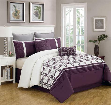 purple and white comforter sets 8 ellis purple and white bedding comforter set