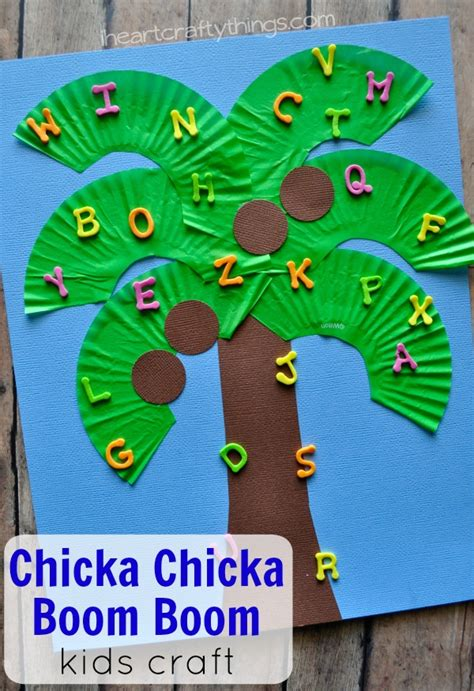 green crafts for chicka chicka boom boom craft i crafty things