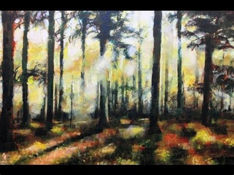 acrylic painting forest tutorial how to paint a forest landscape painting acrylic painting