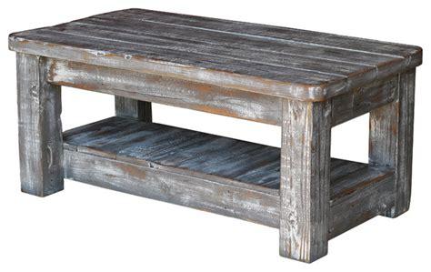 weathered grey coffee table weathered coffee table with shelf gray rustic coffee