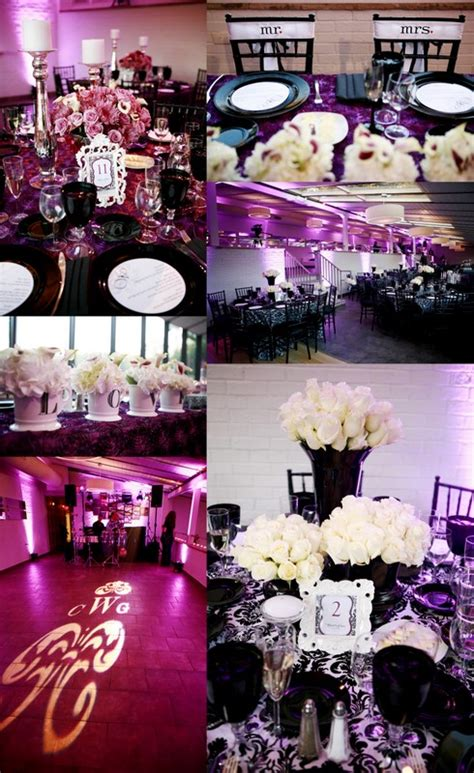 purple and white decorations true wedding story our purple black and white