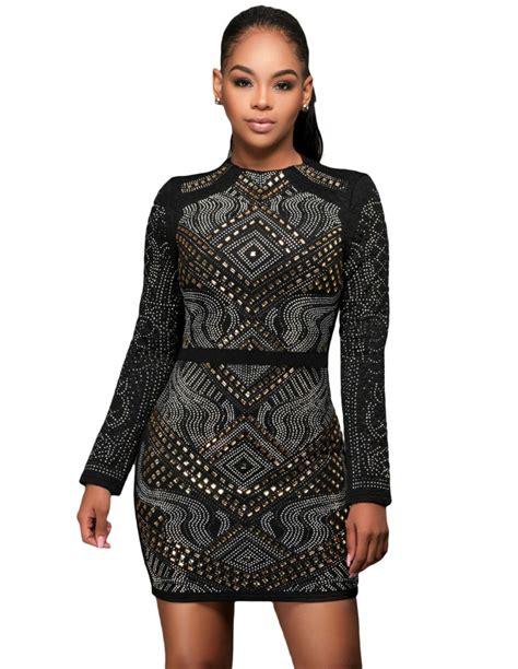 vestidos de fiesta negro corto vestido de fiesta negro corto manga larga ms1848
