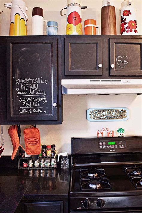 chalkboard paint on cabinets 12 creative kitchen cabinet ideas