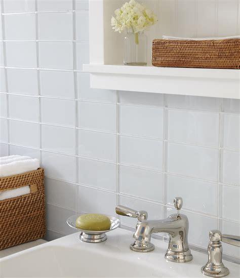 Install Bathroom Backsplash by White Glass Subway Tile Modwalls Lush Cloud 3x6 Tile