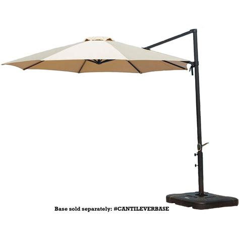 11 ft offset patio umbrella hton bay 11 ft led offset patio umbrella in