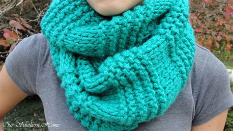 knitted infinity scarf pattern easy knitted infinity scarf our southern home