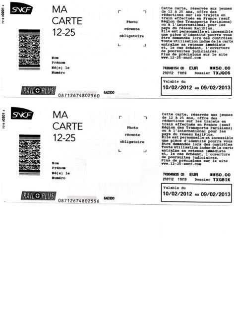 Modification Nom E Billet Sncf by Carte Enfant 12 25 Sncf