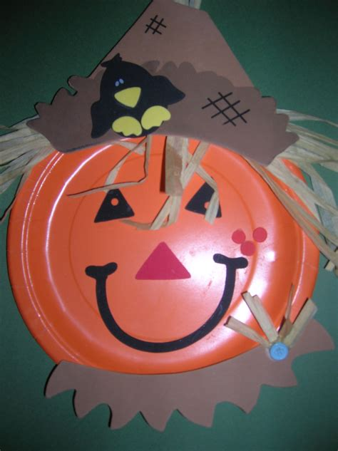 paper plate fall crafts pumpkin scarecrows fall autumn ideas fallcrafts for