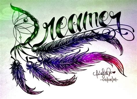 dreamer tattoo feathers design 176 dreamer 176 pinterest