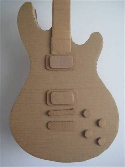 paper guitar craft the sheen cardtail cardboard guitar many photos