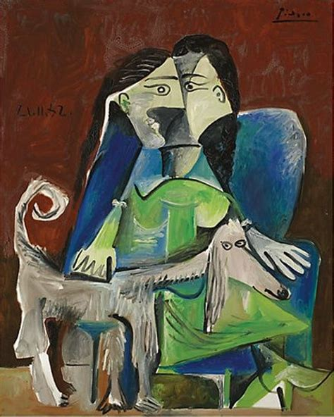 picasso paintings of dogs pablo picasso femme au chien