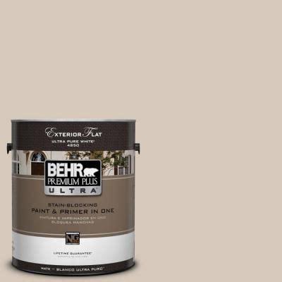 behr paint color almond wisp 1 gal ul170 16 almond wisp flat exterior paint