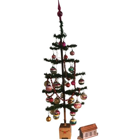 german trees decorated 19th century german feather tree decorated 37 in from