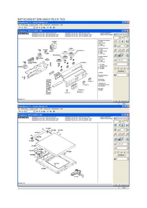 siemens siwamat plus 7421 manuel de service t 233 l 233 charger pdf lave linge anglais