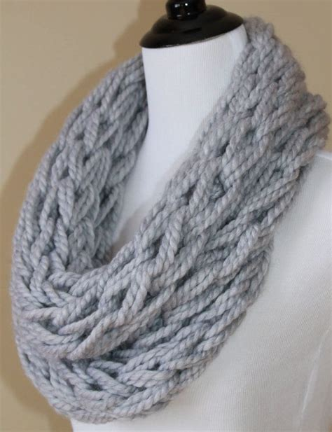 arm knitting scarf arm knit infinity scarf s chunky knit scarf made