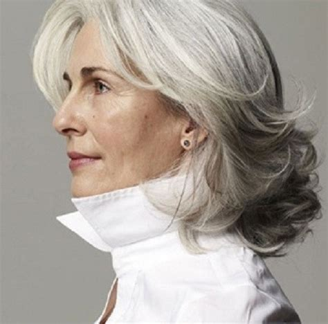 haircut for thick frizzy gray hair 50 gorgeous hairstyles for gray hair