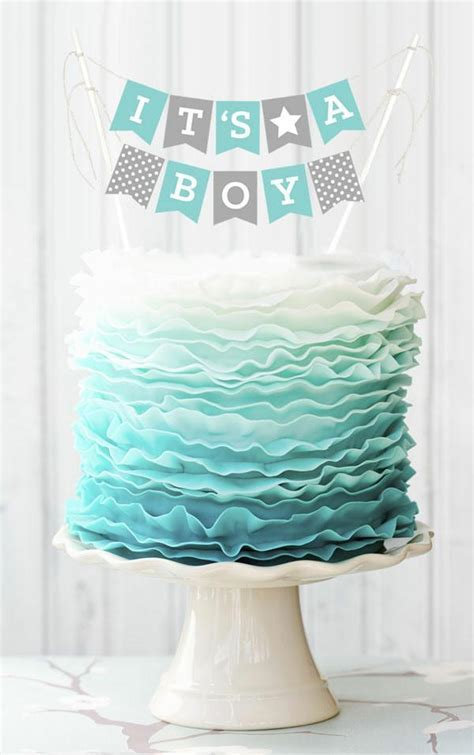It's a Boy Cake Bunting Flags Printables Shop