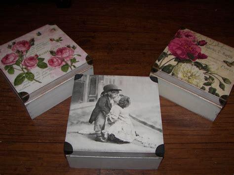 decoupage cardboard boxes decoupage boxes box