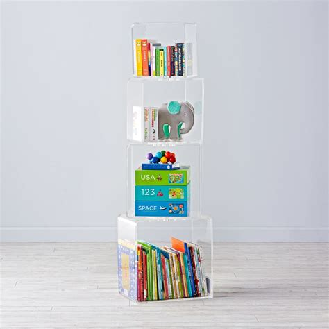 acrylic bookshelves bookcases bookshelves the land of nod