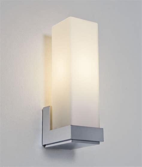 chrome bathroom wall lights chrome and opal glass wall light
