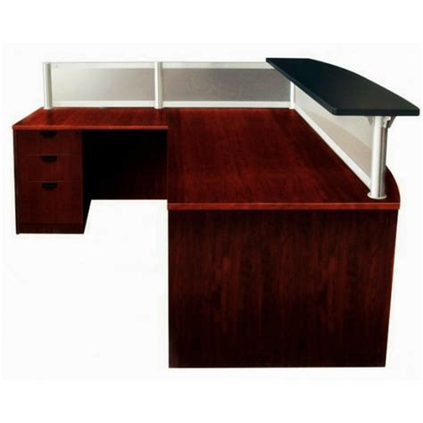 frosted glass l shaped desk l shape reception desk with frosted glass