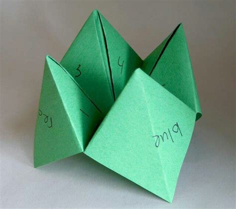 what is origami paper called paper folded fortune called a quot cootie catcher