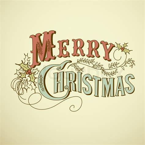 Abc Home Decor vintage christmas card merry christmas lettering stock