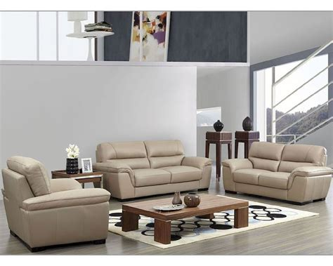 leather sofa colors modern leather sofa set in beige color esf8052set