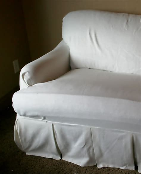 white t cushion sofa slipcover uglysofa loosefit t cushion boxpleat slipcover arm chair