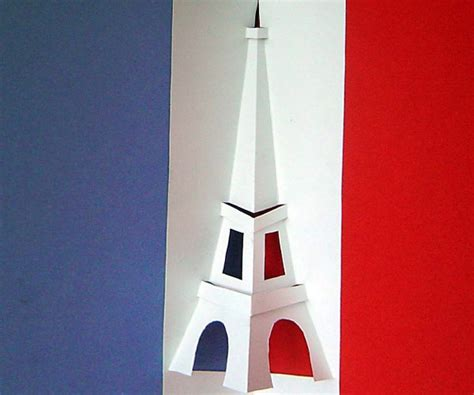 how do you make a card tower eiffel tower pop up card easy template