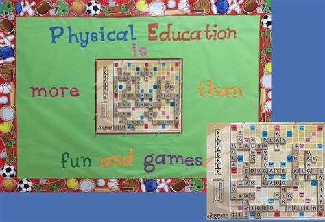 scrabble pe 377 best images about pe bulletin boards on