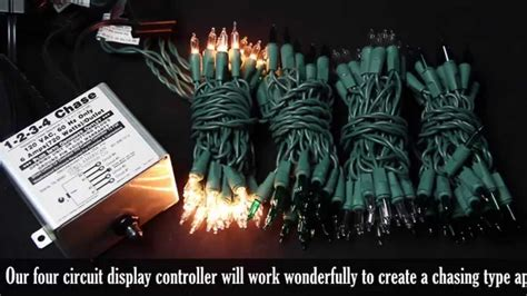 light controler 4 circuit chasing light controller demonstration