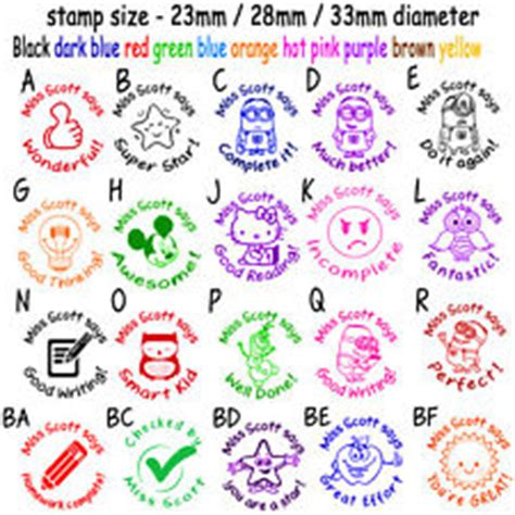 self inking rubber sts for teachers custom name rubber st self inking school