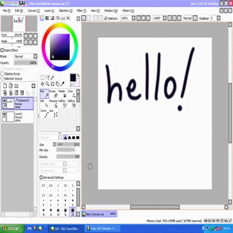 paint tool sai just and go descargar easy paint tool sai