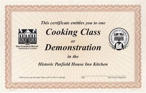 10 best images of culinary certificate templates cooking