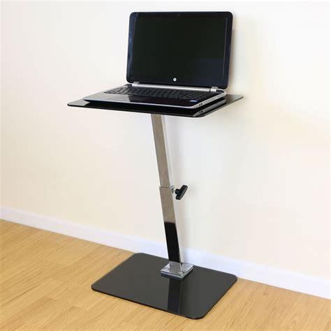 computer bed desk black glass adjustable laptop notebook table stand bed